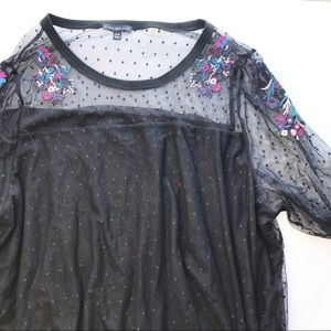 Lane Bryant lace bell sleeve blouse 26/28